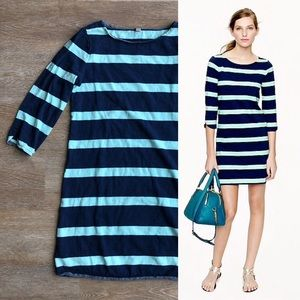 J. Crew Stripe Shirttail Dress